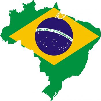 Map Brazil with Flag